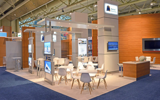 Bentall Kennedy trade show meeting tables