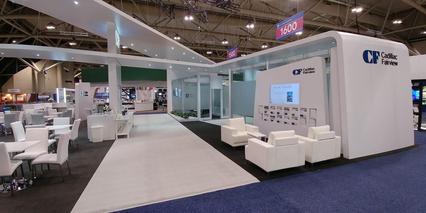 Trade Show Booth Lounge : Cadillac fairview u maverick exhibits u custom trade show exhibit