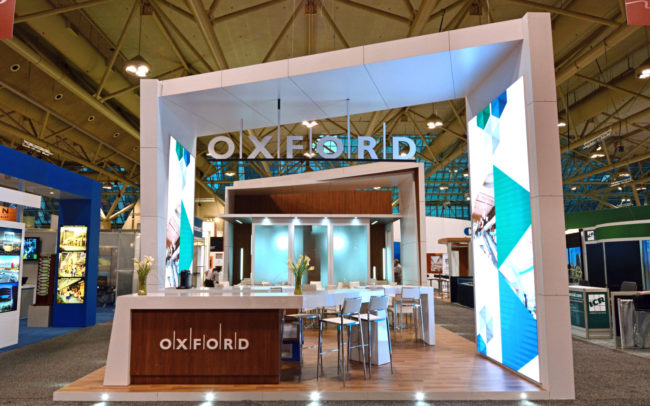 Oxford trade show booth reception
