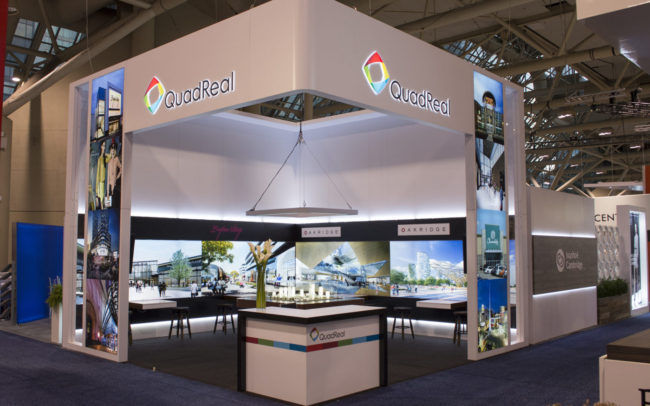 Quadreal trade show booth front view