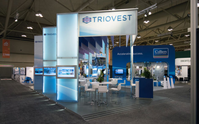 Triovest trade show booth